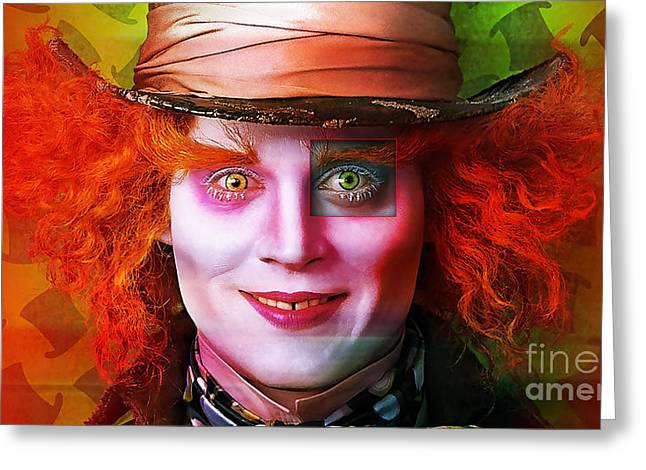 Mad Hatter Greeting Cards - Johnny Depp Painting Greeting Card by Marvin Blaine