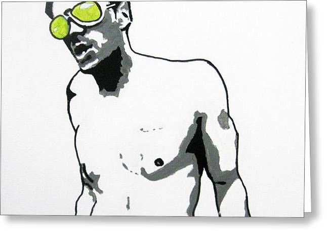 Johnny Knoxville Greeting Card by Venus