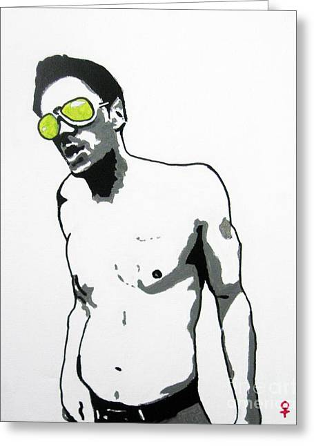 Pen And Ink Drawings For Sale Greeting Cards - Johnny Knoxville Greeting Card by Venus