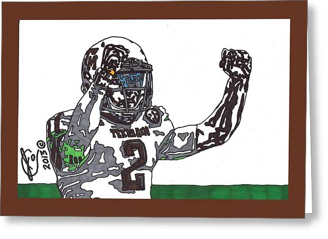 Johnny Manziel Drawings Greeting Cards - Johnny Manziel 3 Greeting Card by Jeremiah Colley