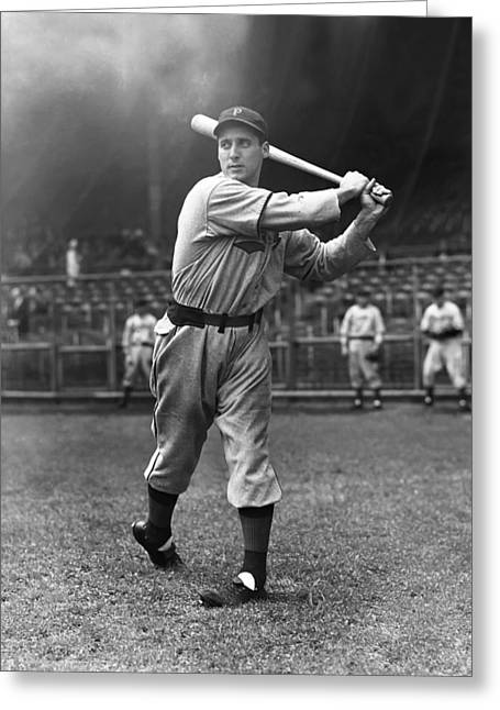 Baseball Bat Greeting Cards - Johnny Rizzo Greeting Card by Retro Images Archive