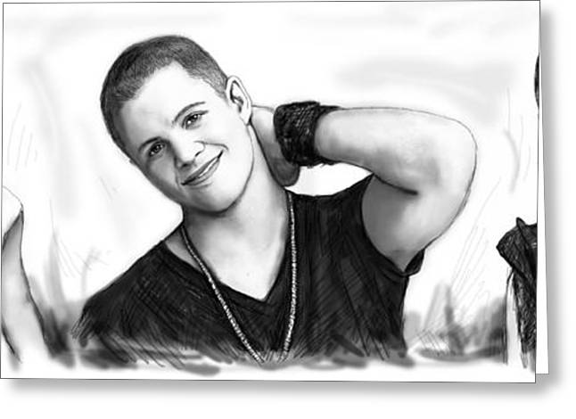 Notable Greeting Cards - Johnny Ruffo art long drawing sketch poster Greeting Card by Kim Wang