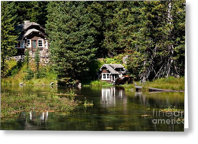 Johnny Sack Cabin Greeting Card by Robert Bales
