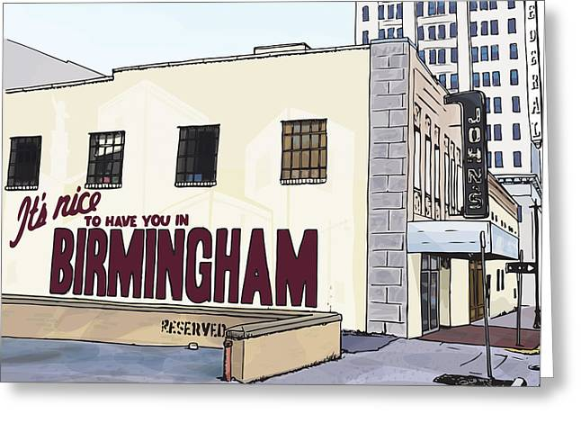 John's City Diner Greeting Card by Greg Smith