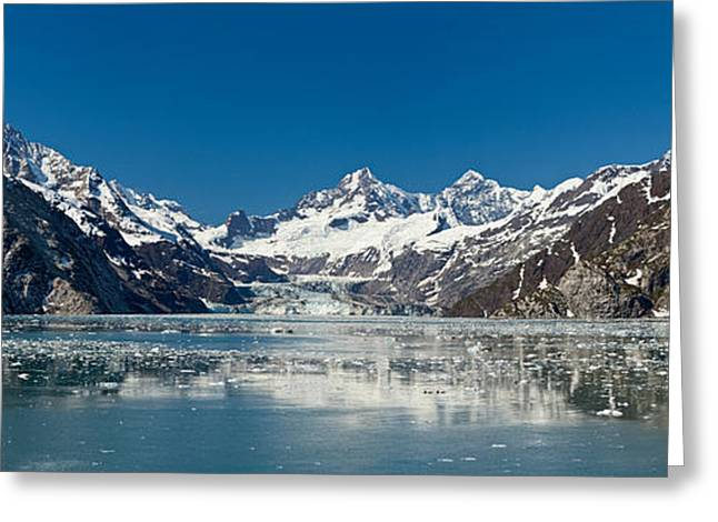 Glacier Bay Greeting Cards - Johns Hopkins Glacier In Glacier Bay Greeting Card by Panoramic Images