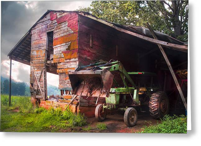 Tennessee Farm Greeting Cards - Johns In The Barn Greeting Card by Debra and Dave Vanderlaan