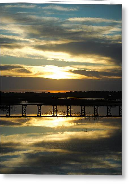Saltlife Greeting Cards - Johns Island Sunset Greeting Card by Emily Meeks