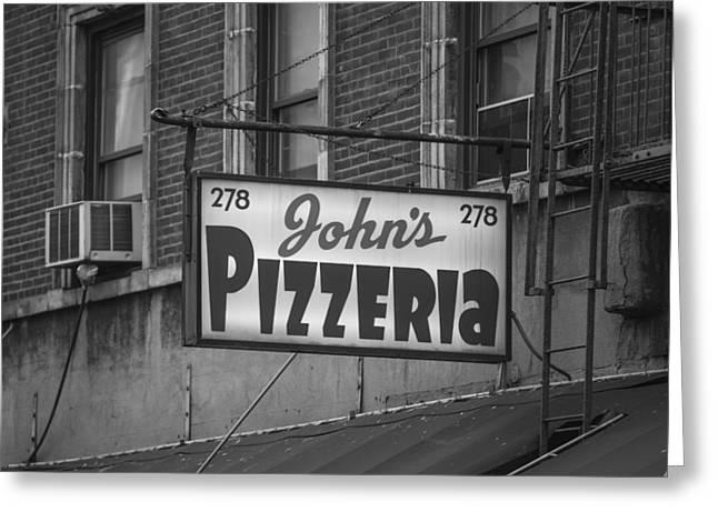 John Mcgraw Photography Greeting Cards - Johns Pizzeria in NYC Greeting Card by John McGraw