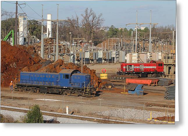 Alco Greeting Cards - Johnson Railway Alcos in Cayce 1 Greeting Card by Joseph C Hinson Photography