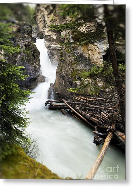 Johnston Greeting Cards - Johnston Canyon Greeting Card by Ivy Ho