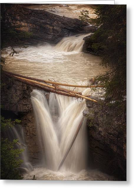Alberta Water Falls Greeting Cards - Johnston Canyon Greeting Card by Stuart Deacon
