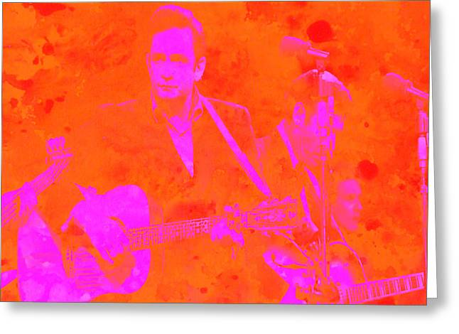 Johny Cash 3 Greeting Card by Brian Reaves