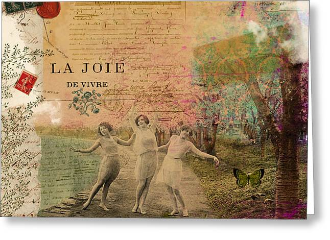 Commercial Photography Mixed Media Greeting Cards - Joie De Vivre Greeting Card by Sandy Lloyd
