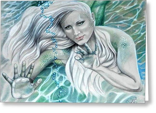 Beauty Pastels Greeting Cards - Join Me For A Dip? Greeting Card by Jean Wilcox