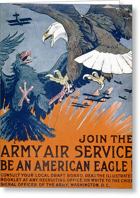 Flight Drawings Greeting Cards - Join The Army Air Service, Be An Greeting Card by Charles Livingston Bull