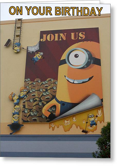 Despicable Me Greeting Cards - Join Us Greeting Card by David Nicholls