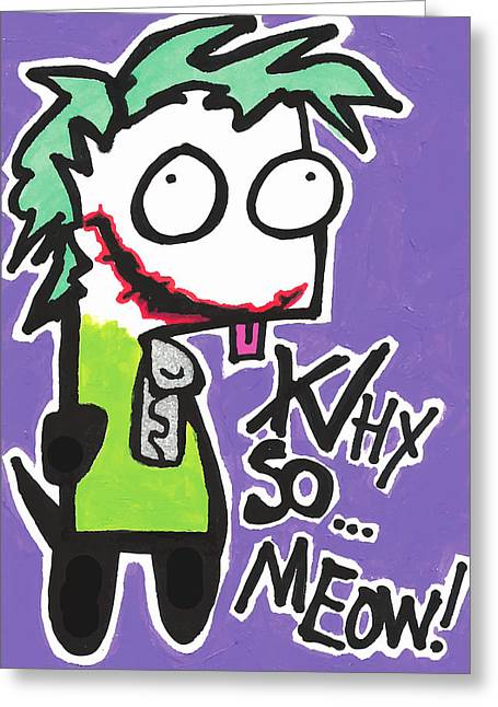 Joke Mixed Media Greeting Cards - Joke-Gir Greeting Card by Jera Sky