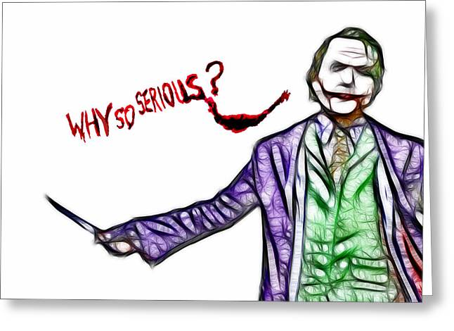 Catwoman Photographs Greeting Cards - Joker - Why so Serious II Greeting Card by Lee Dos Santos