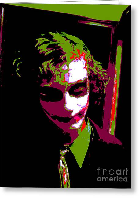 Icons Greeting Cards - Joker 8 Greeting Card by Alys Caviness-Gober