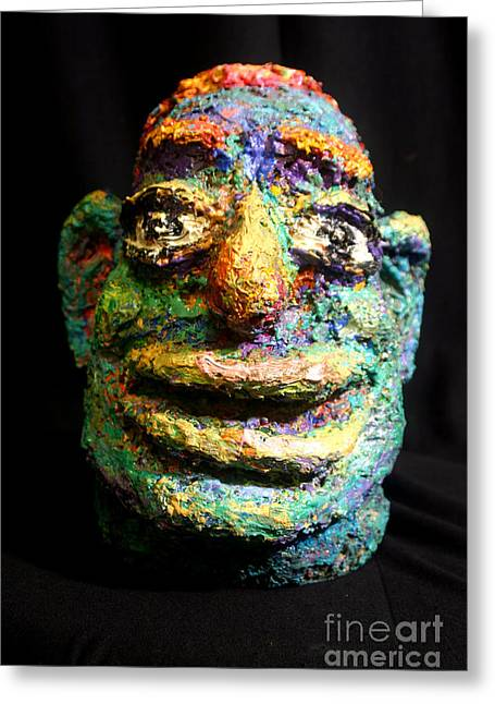 New York Sculptures Greeting Cards - Joker Greeting Card by Arthur Robins