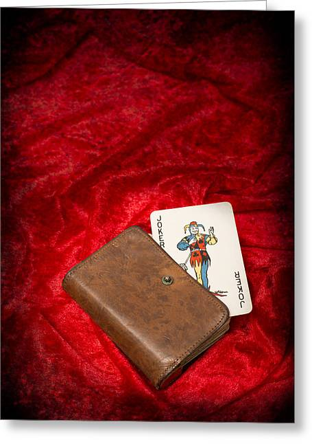 Playing Cards Photographs Greeting Cards - Joker Greeting Card by Amanda And Christopher Elwell
