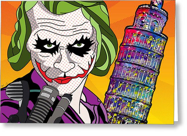 Human Being Greeting Cards - Joker In Roma Italy Greeting Card by Mark Ashkenazi