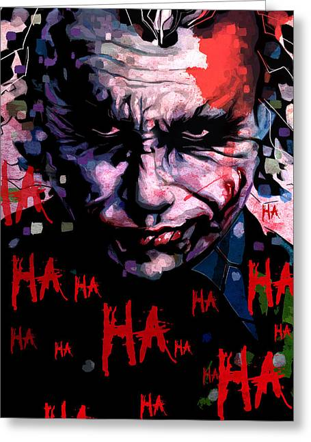 Heath Ledger Greeting Cards - Joker Greeting Card by Jeremy Scott