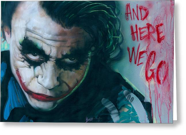 Why So Serious Greeting Cards - Joker Greeting Card by Luis  Navarro