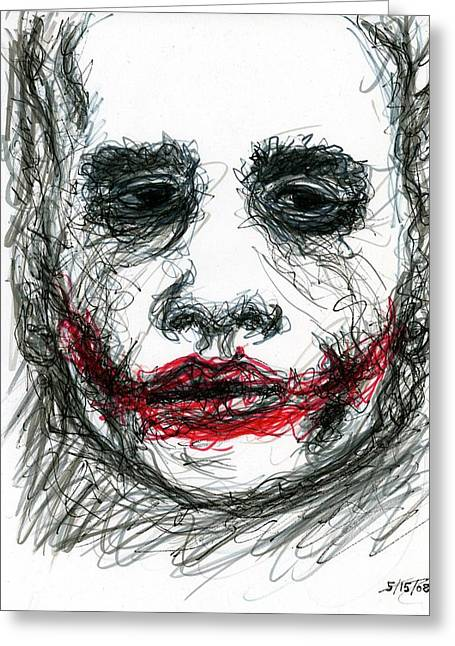 Christopher Nolan Greeting Cards - Joker - Not All Jokes Are Funny Greeting Card by Rachel Scott