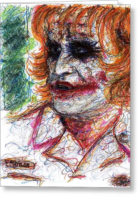 Joker - Nurse Greeting Card by Rachel Scott