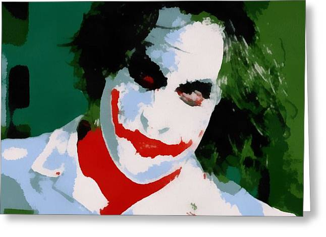 Why So Serious Greeting Cards - Joker Pop Art Greeting Card by Dan Sproul