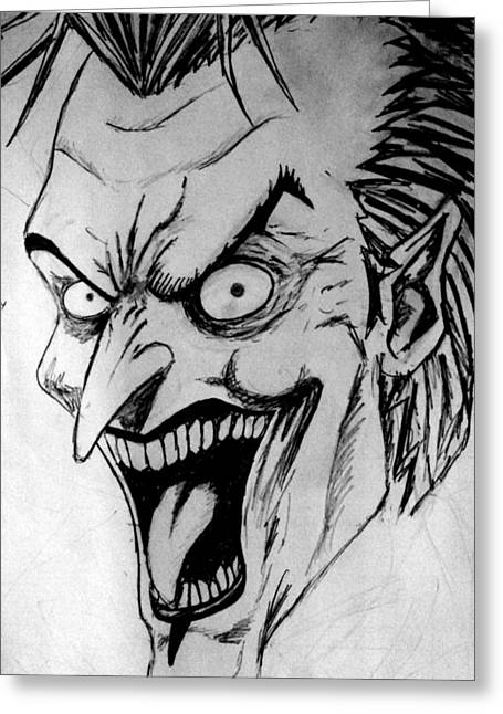 Salman Ravish Greeting Cards - Joker Greeting Card by Salman Ravish