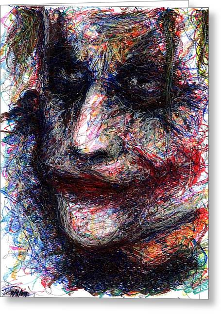 Christopher Nolan Greeting Cards - Joker - They Need You Now Greeting Card by Rachel Scott