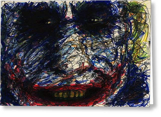 Joker's Smile Greeting Card by Rachel Scott
