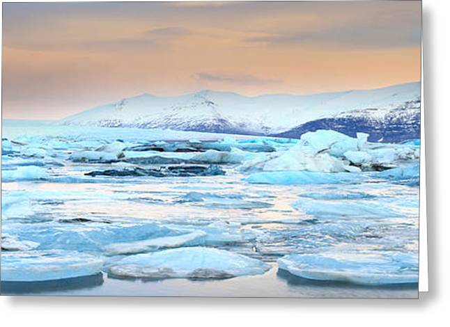 Abstract Beach Landscape Greeting Cards - Jokulsarlon Lagoon Greeting Card by Ollie Taylor