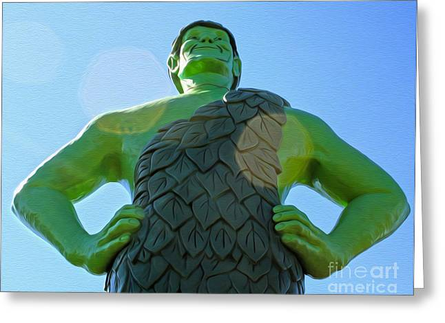 Jolly Green Giant - 02 Greeting Card by Gregory Dyer