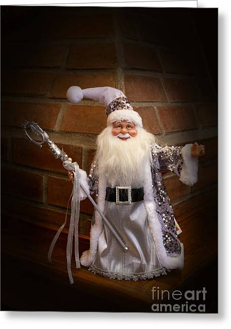 Old Saint Nick Greeting Cards - Jolly Old Saint Nicholas Greeting Card by Al Bourassa