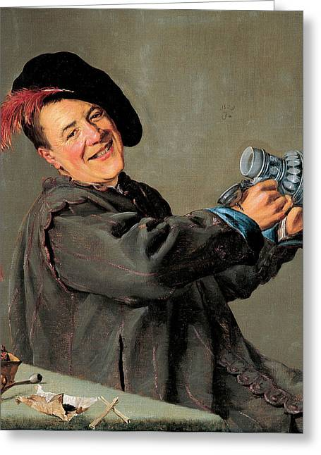 Men Drinking Greeting Cards - Jolly Toper Greeting Card by Judith Leyster