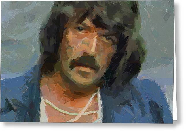 Recently Sold -  - Purple Abstract Greeting Cards - Jon Lord Deep Purple 2 Greeting Card by Yury Malkov