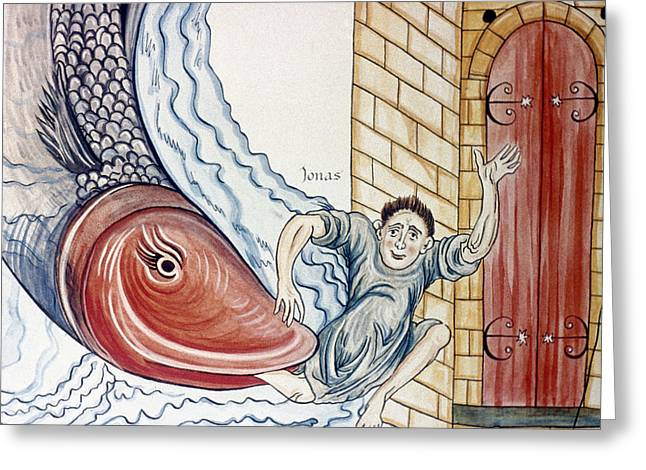 Jonah And The Whale Greeting Card by Granger
