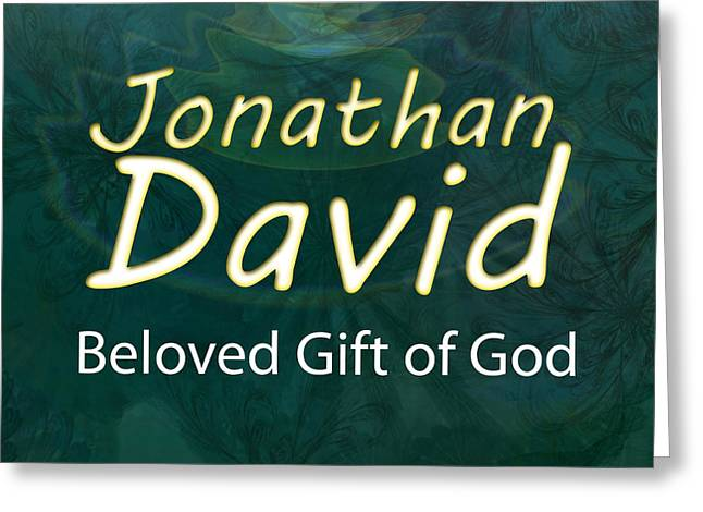 Kid Greeting Cards - Jonathan David - Beloved Gift of God Greeting Card by Christopher Gaston