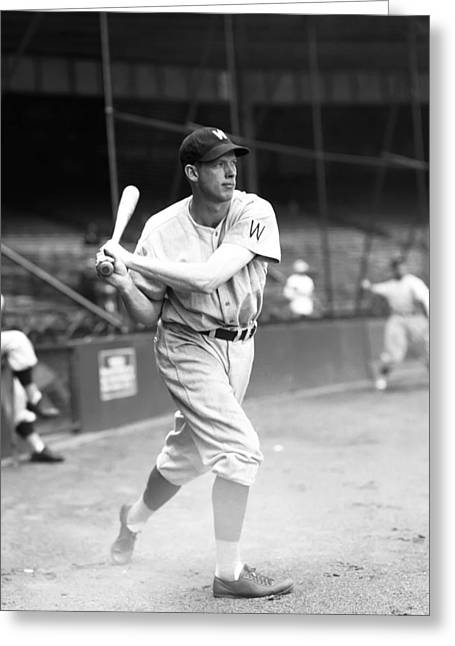 Baseball Game Greeting Cards - Jonathon T. John Stone Greeting Card by Retro Images Archive