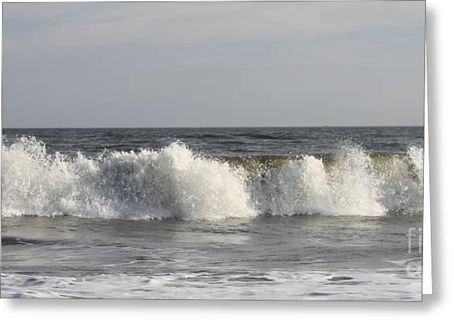 Ocean Art Photography Greeting Cards - Jones Beach Waves Greeting Card by John Telfer