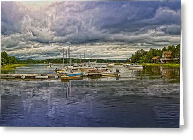 Power Plants Greeting Cards - Jones River Kingston Massachusetts Greeting Card by Constantine Gregory