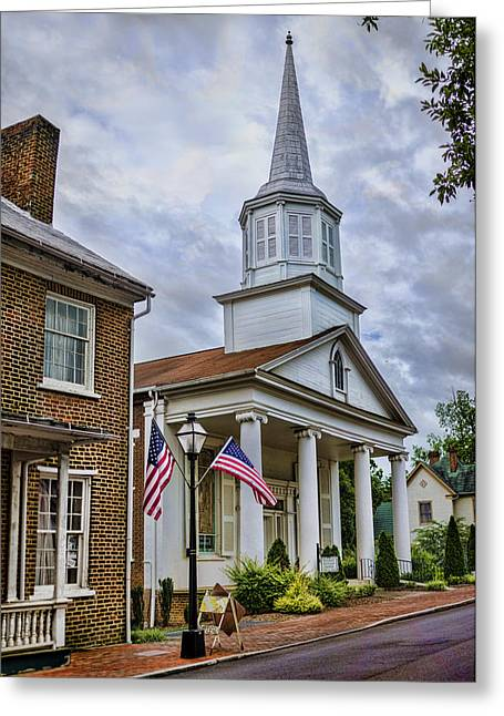 Reverend Greeting Cards - Jonesboro Methodist Church Greeting Card by Heather Applegate