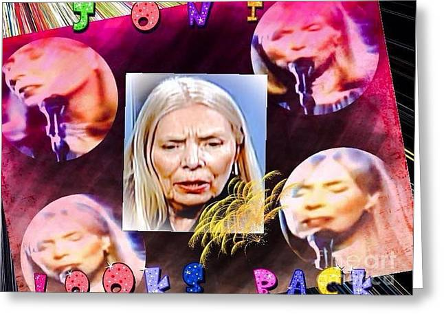 Joni Greeting Cards - Joni Mitchell And Her Younger Days Greeting Card by Caroline Gilmore