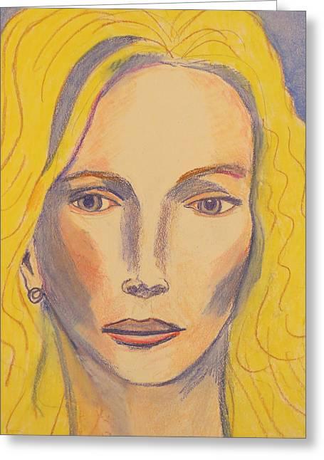 Joni Greeting Cards - Joni Mitchell Greeting Card by Manuel Matas