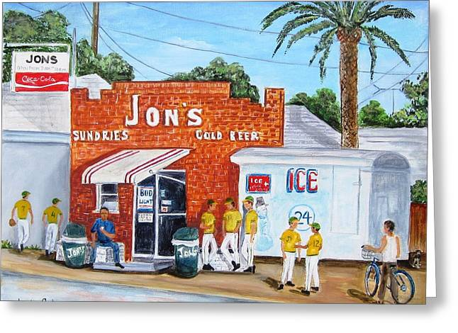Grocery Store Greeting Cards - Jons Ham Greeting Card by Linda Cabrera
