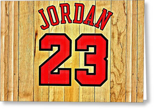 Chicago Bulls Greeting Cards - Jordan 23 Poster Greeting Card by Florian Rodarte