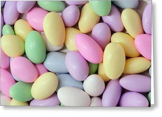 Jordan Almonds - Weddings - Candy Shop - Square Greeting Card by Andee Design